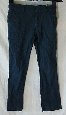 Boys Next Signature Slate Blue Linen Blend Smart Formal Trousers Age 8 Years
