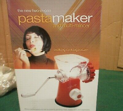 Easy Health Two-in-One Pasta Maker and Multimincer - NEW in Box