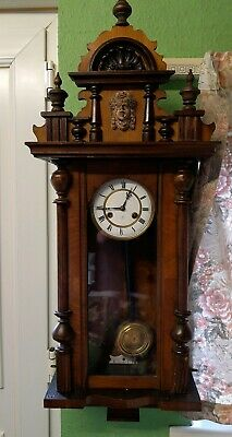 Decorative Junghans 8 Day Striking Vienna Style Clock Good Working Order