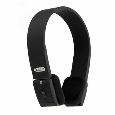 Object Bluetooth Stereo Headphones Built In Microphone Rechargeable Black