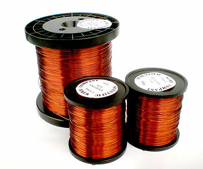 0.375mm ENAMELLED COPPER WIRE - HIGH TEMPERATURE MAGNET WIRE - 500gr  - 28 swg