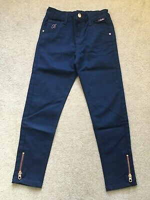 Ted Baker Girls Indigo Dark Blue Rose Gold Jeans - Age 8 Years (7-8) - VGC