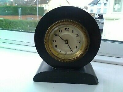 Vintage Mantel/Shelf Clock With Slate Type Case. Spares/Repair Only.