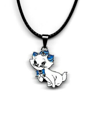 Marie The Cat from The Aristocats Movie Charm Pendant Necklace