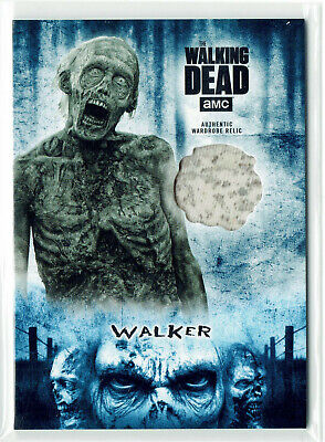 The Walking Dead Hunter & Hunted Relic Costume Card WR-4 Walker Parallel #27/50