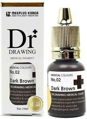 Dr Drawing Dark Brown Medical Pigment * Eyebrow Lip Color Tattoo Ink * NEW 2021