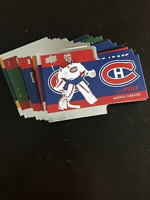 Lot of 10 Different 2015-16 Upper Deck Tim Hortons Die-Cuts Insert Cards