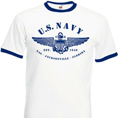 T-SHIRT U.S.NAVY Seconde Guerre Mondial 50's Fifties USA Années 50 United states