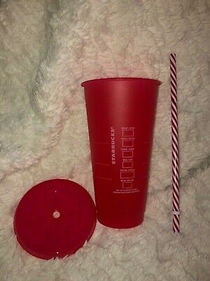 Starbucks 2019 Holiday Christmas Reusable Cold Cup Merry Coffee Venti Red  NEW