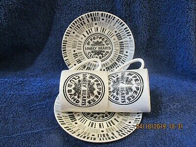 Beatles Sgt Peppers Lonely Hearts Club  COALPORT  ESPRESSO CUPS AND SAUCERS X 2