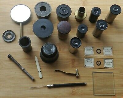 Interesting Group Of Vintage Microscope Bits And Bods