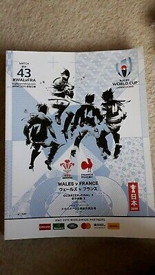 Rugby World Cup 2019 Wales v France match programme