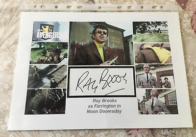 The Avengers - Ray Brooks as Farrington - Autograph & Display EXC