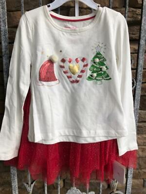 TOMMY BAHAMA KIDS Girls 2-Pc Christmas Outfit Shirt Skirt - Size 6 - NWT