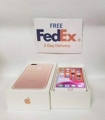 Apple iPhone 7 Plus - 128GB -  Rose Gold GSM (Unlocked) A1784 8/10 Condition