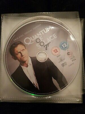Quantum of Solace (DVD, 2009, 2-Disc Set, Box Set)DISC AND COVER ONLY