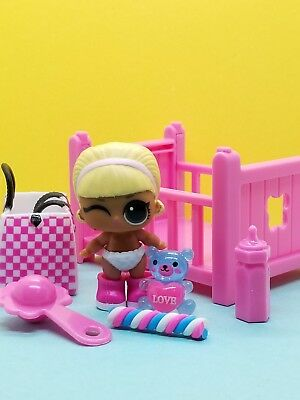 "LOL SURPRISE DOLLS Lil Sisters *DRAG RACER* AUTHENTHIC ""UNUSED""+ ACCESSORIES"