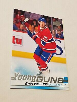 2019-20 Upper Deck Hockey Series 1 Ryan Poehling Young Guns Rc 226 Ud Canadiens
