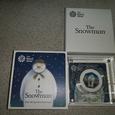 Ready to post BRAND NEW The Snowman 50p Official Royal Mint 2019 Silver Proof,