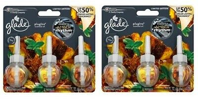 (Pack of 2) Glade Sultry Amber Rhythm Air Freshener Refill 2.01 fl oz