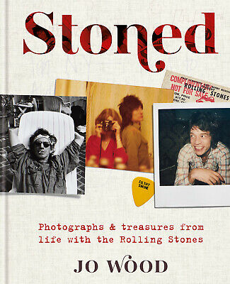 Jo Wood Autograph - Stoned Hardback Book - Rolling Stones -  Signed  - AFTAL