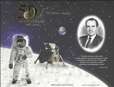 Apollo 11 50th Anniversary 2019 Engraved Print: 'The Eagle Has Landed'