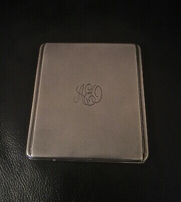 antique sterling silver cigarette card case Hallmarked Vintage Design 160 Grams