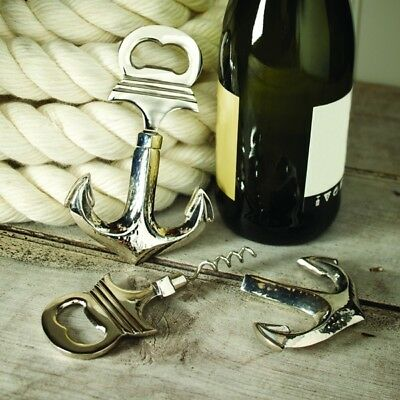 Anchor Bottle Opener With Integral Corkscrew Culinary Concepts