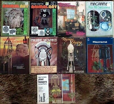 Macramé - Related Publications -11 titles - Animal Art, Masterpieces, Plant Hang