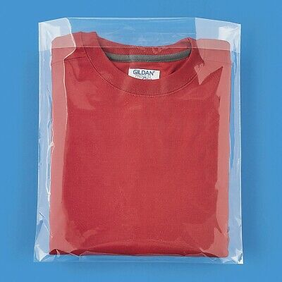 100 Clear 2 MIL Plastic 12 x 16 Poly Bags Fold Over Flap ULINE Best