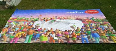HAVAIANA'S EX-SHOP VINYL DISPLAY ADVERTISING POSTER-Huge 14.5ft ,Clay Animate