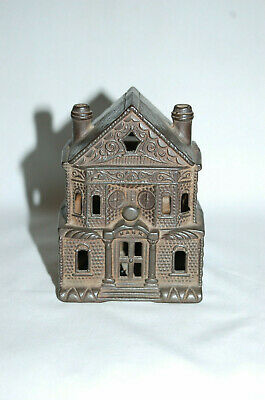 """Cast Iron """" Victorian House"""" Building Still Bank Large"""