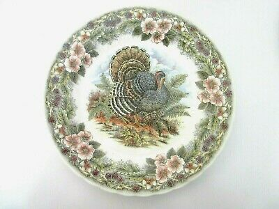 "CHURCHILL CHINA MYOTT FACTORY THANKSGIVING Multi Color 10"" DINNER PLATE ~ NEW"