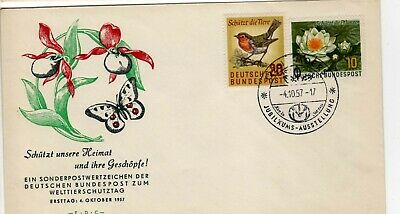 German 773-4 Bird and Flower Cachet First Day Cover unaddressed