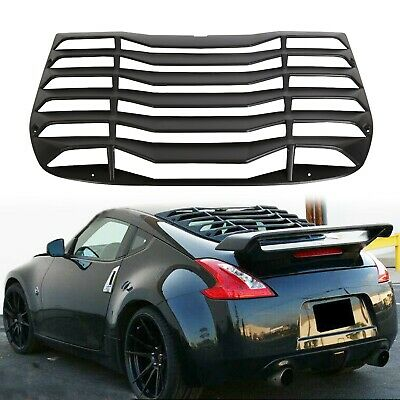 Fits 09-19 Nissan 370Z Coupe IKON Style Rear Window Louver Sun Shade Cover ABS
