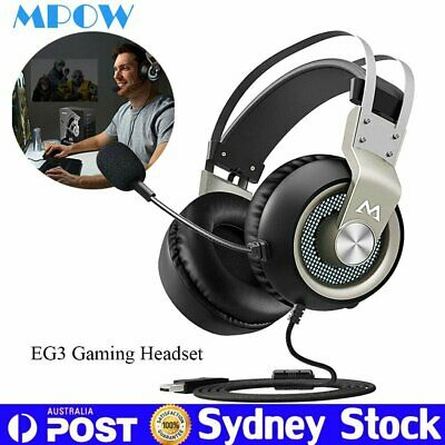 Mpow Gaming Headset LED Surround MIC Stereo Headphone Noise Cancelling Fr PC PS4