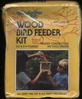 WOODKRAFTER KITS do it yourself WOOD flat roof BIRD FEEDER birdhouse KIT made US
