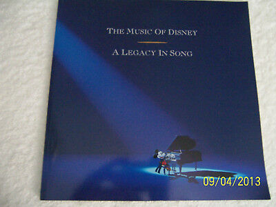 """Vintage The Music Of Disney """"A Legacy In Song"""" Book - Softcover - No Cds."""