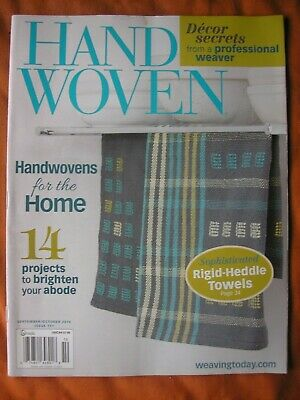 Sept Oct 2014 HandWoven Weaving Magazine for the Home Rigid-Heddle Towels