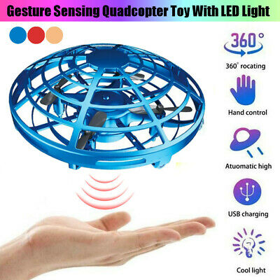 Mini Drone Quad Induction Levitation UFO Hand Operated Helicopter Toys Kids Gift