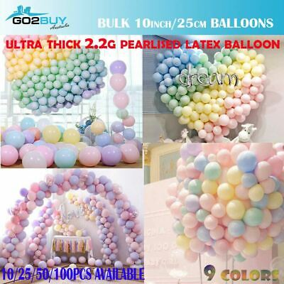 """25cm/10"""" Ultra Thick Macaron Candy Pastel Latex Balloons Birthday Wedding Party"""