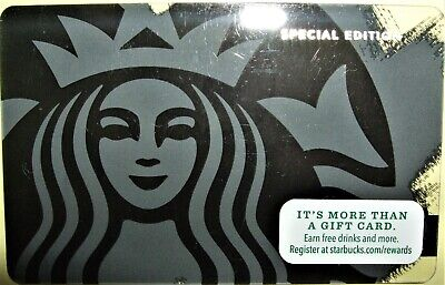 Starbucks Black Siren Limited Edition Gift Card Never Used or Loaded Free Ship!