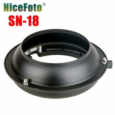 NiceFoto SN-18 Balcar Mount to Bowens Mount Adapter Ring For Strobe Flash Light