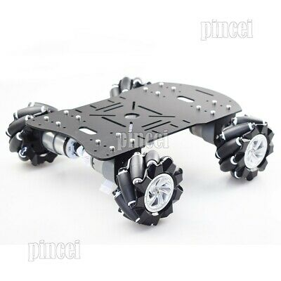 4WD 80mm Mecanum Wheel Robot Car Chassis Kit with Encoder Motor for Arduino DIY