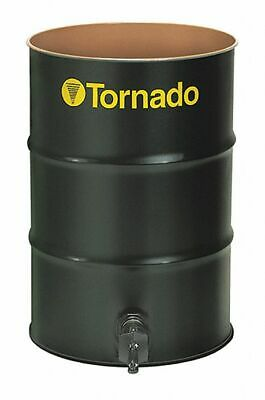 Tornado 55 gal. Black Steel Open Head Vacuum Drum 18 Gauge Includes Drain Valve