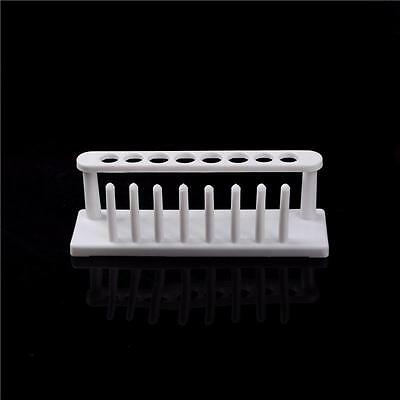 8Holes Plastic Test Tube Rack Testing Tubes Holder Storage Stand Lab Supplies RS