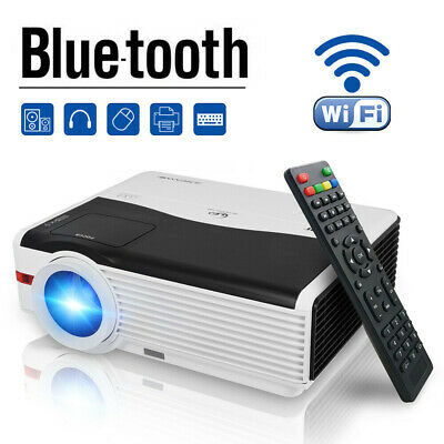 Projector Bluetooth Android WIFI Home Cinema Video Movie HDMI Backyard 1080P USB