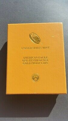 2017-W US Eagle/Liberty proof gold coin (1/10th Oz) & stunning folder. FREE POST