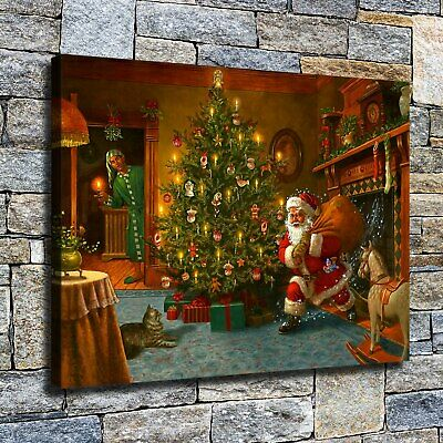 "12""x16""Funny Santa HD canvas photo home decor wall Art paintings picture poster"