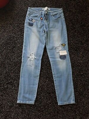 Roxy jeans, ripped, Size 14